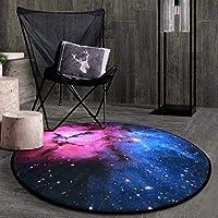 ラウンドクラシックホームアートラグ惑星装飾マット多機能デザインのリビングルームのソファ寝室のコーヒーテーブル多色ソフトカーペットで様々なサイズ(150×150センチ) (色 : C, サイズ さいず : Diameter 100cm)