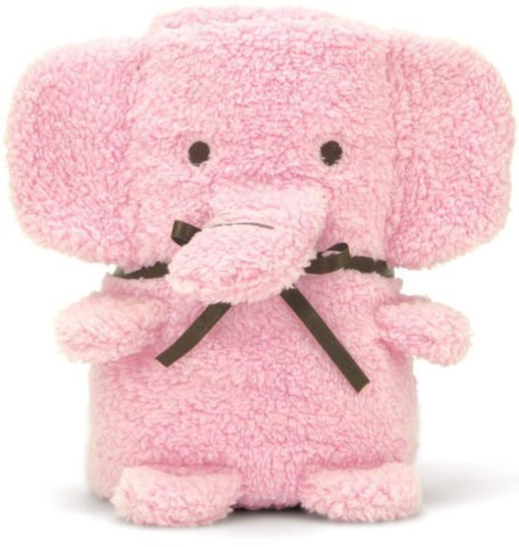 Brownlow Cuddly Elephant Baby Blanket / Receiving Blanket (Pink) by Brownlow [並行輸入品]