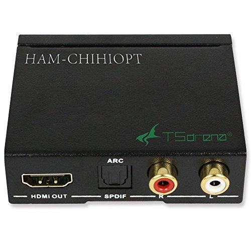 TSdrena HDMIデジタルオーディオ分離器[HDMI→光デジタル音声/アナログ音声(3.5mmステレオ)] HAM-CHIHIOPT