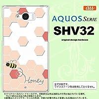 SHV32 スマホケース AQUOS SERIE SHV32 カバー アクオス セリエ ハニー クリア×赤 nk-shv32-1686
