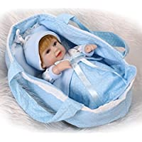 NPK collection 10インチ26 cmフルボディシリコンソフトビニールReal Looking Rebornベビー人形Lifelike Newborn Doll Boy in Cradle