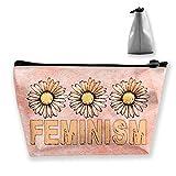 Feminist フェミニズム 小型 旅行 メイクアップポーチ 化粧品 収納 オーガナイザー バッグ