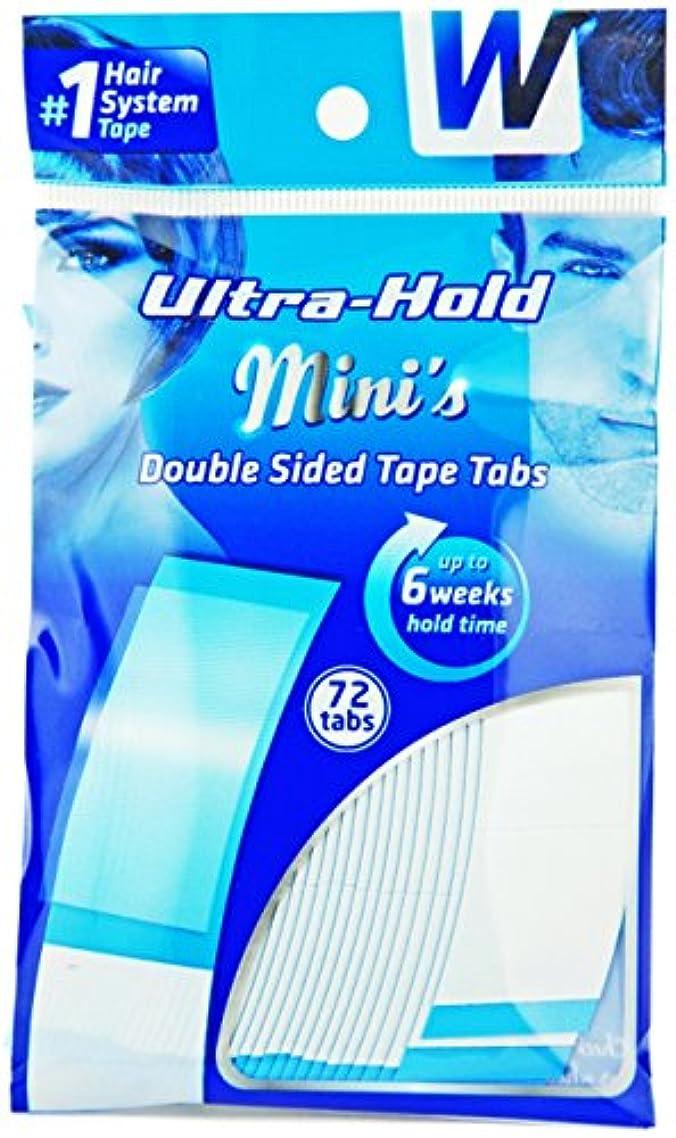 第四防腐剤大学生強力両面テープ:ULTRA HOLD 1袋36枚入り(小分け72枚)テープ形状:アジアカーブ