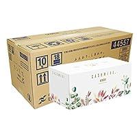【ケース販売】 スコッティ カシミヤ ティシュー 440枚(220組) ボタニカルパッケージ ×10箱入り