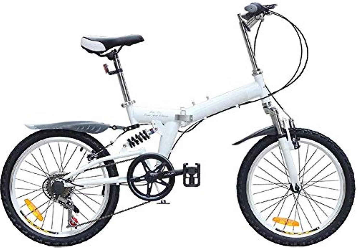 シンボルコンバーチブルアリーナWXQ-XQ 20インチ折りたたみ自転車スピード折りたたみマウンテンバイクダブルVブレーキシステムフロントとリアショックシフト自転車