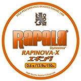 ラパラ(Rapala) ラピノヴァX エギング 150m 0.6号 13.9lb ホワイト/オレンジ Rapinova-X Egi 150M . RXEG150M06WO