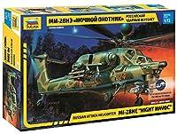 ズベズダ 1/72 ロシア空軍 ミル Mi-28NE 攻撃ヘリ ナイトハボック プラモデル ZV7255