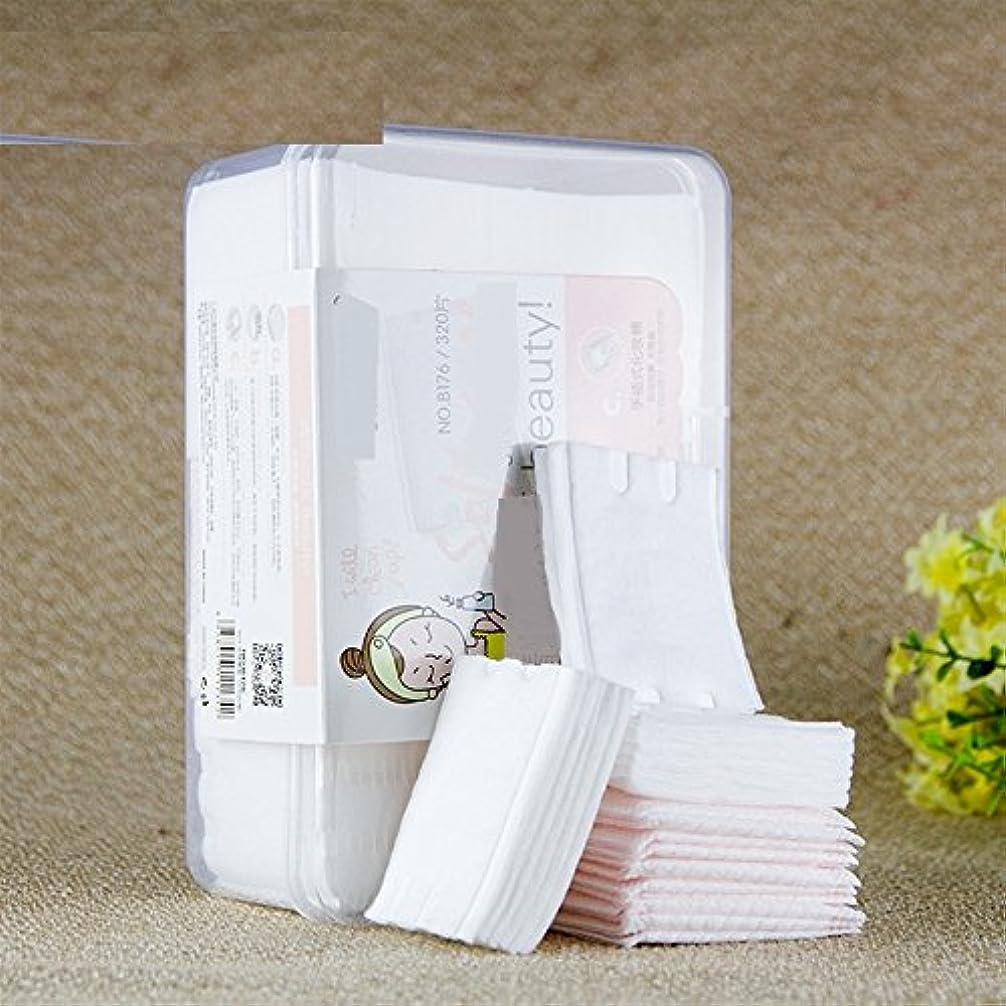 アルファベット首スノーケルAorunji 柔らかい 天然コットン化粧品パッド高品質リントフリーフェイシャルメイクリムーバークリーニングコットン(Appr.320pcs)