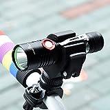 自転車ヘッドライト USB充電式 LED懐中電灯 CREE XM-L2 1200ルーメン 自転車ライト 自転車前照灯 360゜ヘッドが回転 多用途 防水 ライトマウント付属