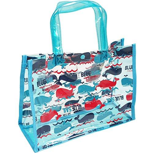 UZULAND(ウズランド) 男の子柄 スイムバッグ プールバッグ 水泳バッグ FREE クジラサックス