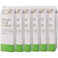 辻本珈琲 デカフェアイスコーヒー ハウスブレンド 1,000ml×6本 / カフェインレスアイスコーヒー