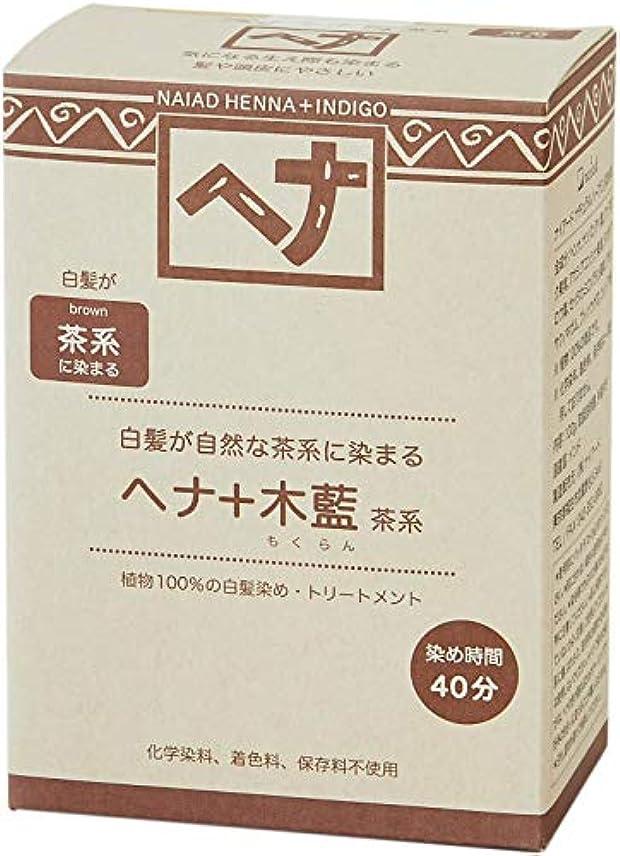 解き明かすメンターNaiad(ナイアード) ヘナ+木藍 茶系 100g