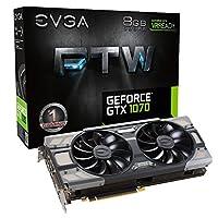 EVGA GeForce GTX 1070 FTW GAMING ACX 3.0, w/ Adjustable RGB LED Graphics Card 08G-P4-6276-KR