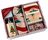 カーネーションホームファッション16ピースバスセット、「Oクリスマスツリー」