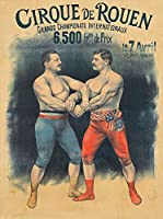 Cirque De Rouenヴィンテージポスター(アーティスト: Faria )フランスC。1896 24 x 36 Giclee Print LANT-72713-24x36