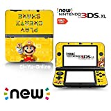 「Ci-Yu-Online VINYL SKIN [new 3DS XL] - Super Mario Maker Yellow Gold- Limited Edition STICKER DECAL COVER for NEW Nintendo 3DS XL / LL Console System [並行輸入品]」の画像