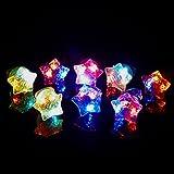 (iSmile) 光る指輪 おもちゃ ピカピカ クリスマス ハロウィン パーティー に大活躍 星 15個入り