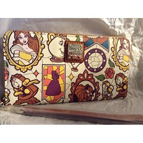 ディズニー 財布  かわいい Dooney and Bourke Beauty and the Beast Wallet, Wristlet NEW! Disney Parks Belle [並行輸入品]