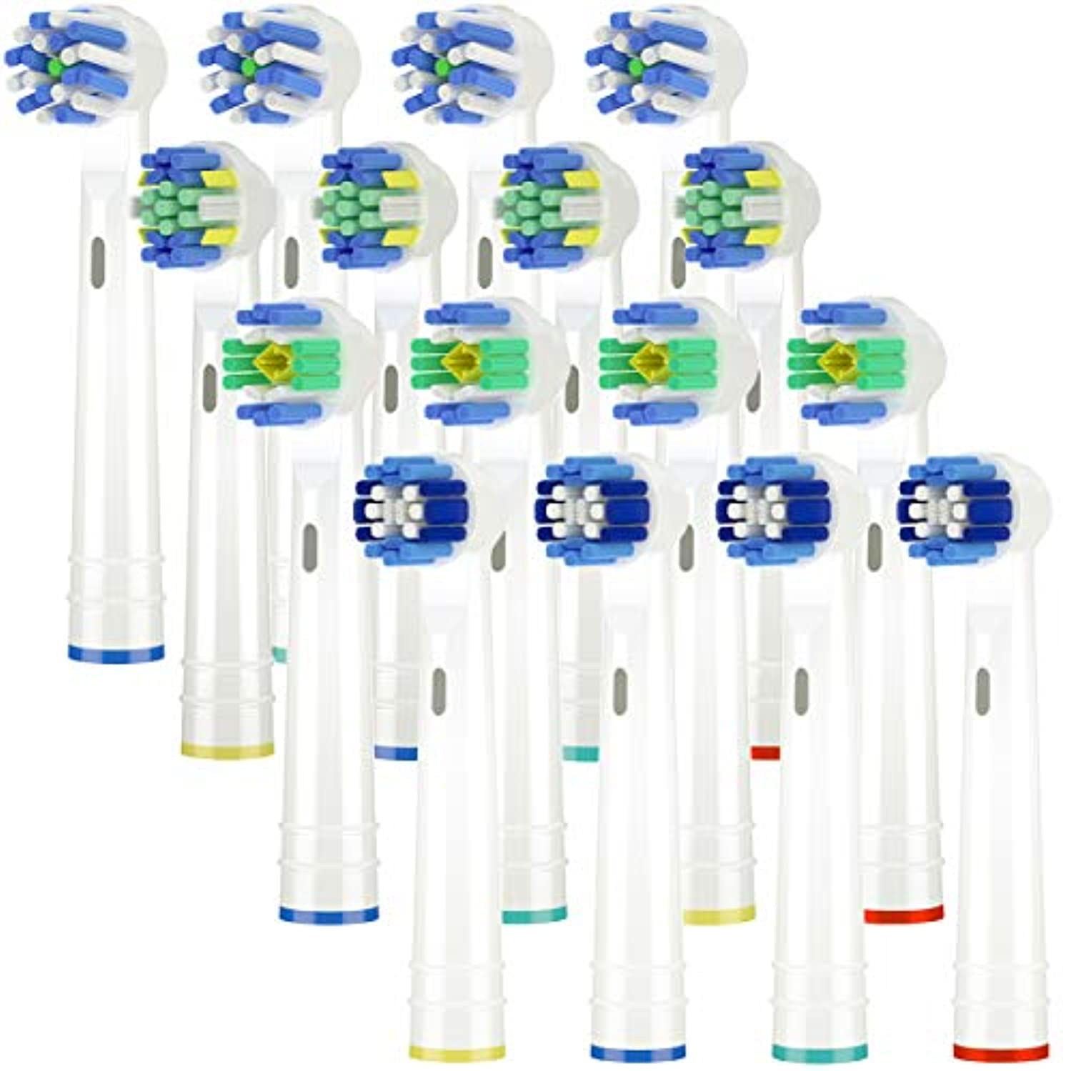 感情国旗演劇Itechnik 電動歯ブラシ 替えブラシ ブラウン オーラルB 対応 替えブラシ 4種類が入り:ホワイトニングブラシ 、ベーシックブラシ、歯間ワイパー付きブラシ、マルチアクションブラシ 凡用な16本