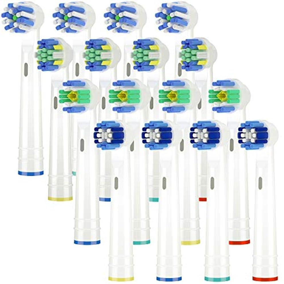 ノミネート追跡大臣Itechnik 電動歯ブラシ 替えブラシ ブラウン オーラルB 対応 替えブラシ 4種類が入り:ホワイトニングブラシ 、ベーシックブラシ、歯間ワイパー付きブラシ、マルチアクションブラシ 凡用な16本