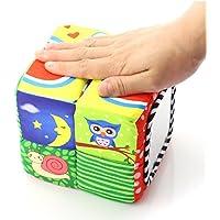 HuaQingPiJu-JP 子供幼児ラブリースクエアローリングハンドグリップおもちゃのレンガのミラーカラフルなセーフティミラーギフト
