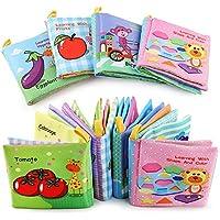 XIDUOBAO ソフトベビーブック 布製ベビー服 本 早期教育玩具 乳幼児 幼児 子供 4冊パック