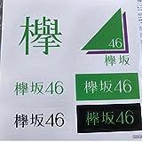 欅坂46 1st アルバム 真っ白なものは汚したくなる 応援店特典 ロゴステッカー 2枚セット