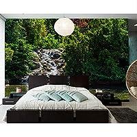 Xbwy 公園池石木自然3D壁紙、レストランのリビングルームテレビソファ壁の寝室カスタム壁画-280X200Cm