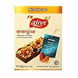 Alive Oleic Nut Choc Almond Peanut Bar, Energise, 33g (Pack of 6)