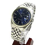 [ロレックス]ROLEX 腕時計 1601 デイトジャスト サファイヤ ブルー メタリック文字盤 アンティーク メンズ 中古