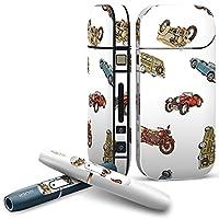 iQOS COMPLETE アイコス 専用スキンシール 全面セット サイド ボタン スマコレ チャージャー カバー ケース デコ 車 バイク レトロ 010609