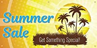 Summer Sale Vinyl Display Banner with Grommets 3'Hx6'W Full Color [並行輸入品]