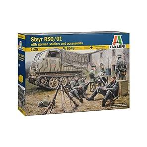 イタレリ 1/35 ドイツ軍 シュタイヤー RSO/01 ドイツ軍兵士7体付き プラモデル 38549