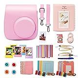 ナイキ キッズ TRIPLE TREE チェキ インスタントカメラ フォトフレームInstax Mini8 プラスに専用ケース&アクセサリー(7点入り) (pink)