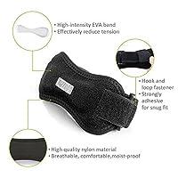 cozzine膝蓋骨膝ストラップPain Reliefブレース調整可能サポート膝ブレースブラック2パック