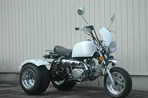 静音モデル 125ccトライク完成車 白色クラッチありタイプ デフ付 好燃費 ZH-SR125-3L