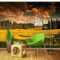 Wuyyii カスタム写真壁紙素晴らしい草原の森の風景の背景壁壁画ゲストルーム装飾壁紙-120X100Cm