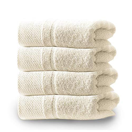 フェイスタオル 4枚セット 綿100% 速乾 柔らか肌触り ふんわり 瞬間吸水 厚手 抗菌防臭 ホテル仕様/業務用/...