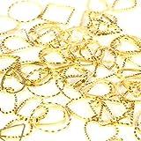 【アップフェル】 フレーム パーツ 5 種類 50 個 ゴールド ハート ドロップ 三角 スクエア 円 アクセサリー ピアス レジン 通販