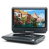 ポータブルDVDプレーヤー 9インチ 地デジ フルセグ DVDプレーヤー テレビ TV チューナー 搭載 ワンセグ 切り替え式 CPRM対応 リージョンフリー シガーソケット付き USB/SD カードスロット搭載 軽量設計 [国内メーカー12ヶ月保証期間] d-001