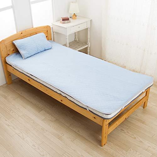 西川(Nishikawa) 敷きパッド ブルー シングル 速乾 ダブルメッシュで通気性UP 残暑に SEVENDAYS PM09001542B