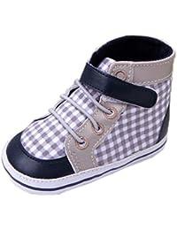 (ビグッド) Bigood 子供靴 ベビーシューズ ルームシューズ チェック柄 赤ちゃん靴 ハイスニーカー滑り止め トレーニング 室内履き 13cm