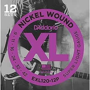 D'Addario ダダリオ エレキギター弦 ニッケル SuperLight .009-.042 EXL120-12P 12set入りパック 【国内正規品】