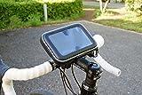 エレワークス ユピテル(YUPITERU) 5インチ YERA・ポータブルナビ 自転車&バイク用 防水ケース付き ダブルロック式 取付キット・スタンド 画像