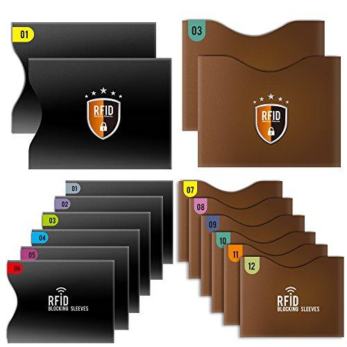 Tecboss カードケース RFID&スキミング防止 「12クレカ+4パスポートスリーブ」