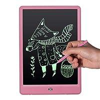 EooCoo 10インチ液晶ライティングタブレット、電子ライティングボードデジタル描画ボードグラフィックタブレット用ホームスクールオフィス、モノピンク