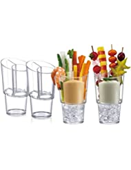 Prodyne Veggie Sticks & Dip On Ice, Set of 4