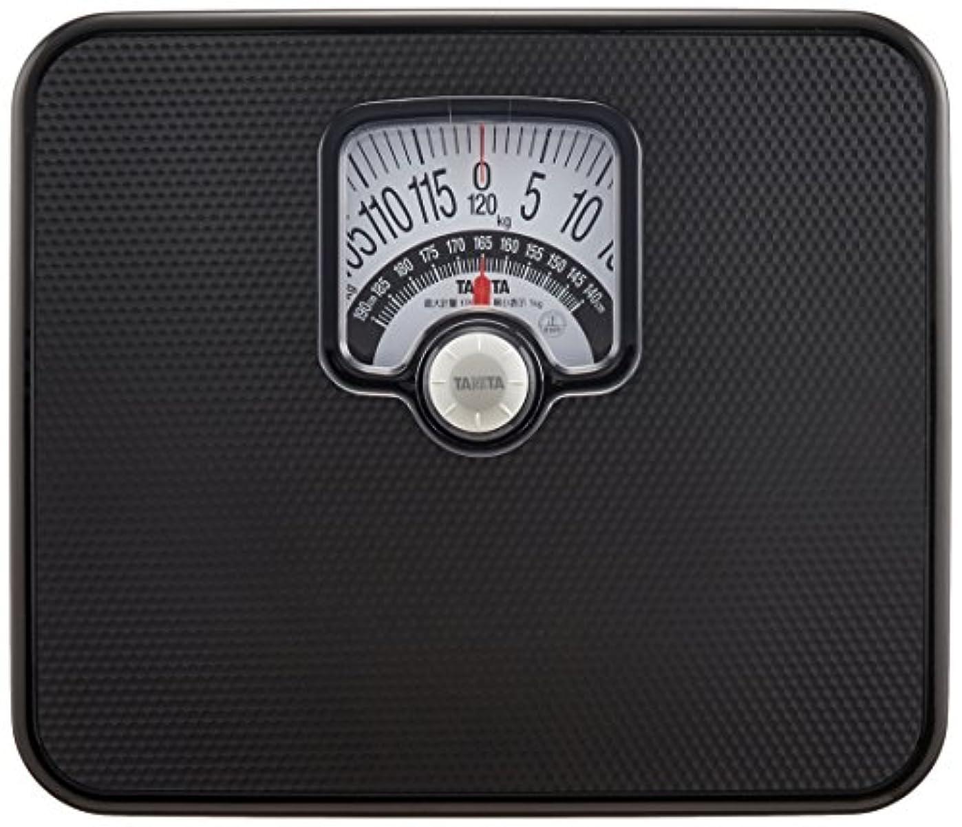 価値レンダー麦芽タニタ 体重計 アナログ ブラック BMIチェッカー付き HA-552 BK