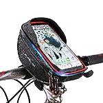 トップチューブバッグ WHEELUP 自転車 フレームバッグ サドルバッグ 収納便利 多機能 防水 遮光 防圧 防塵 耐磨耗性 取り付け簡単 大容量 6.0インチスマホ対応
