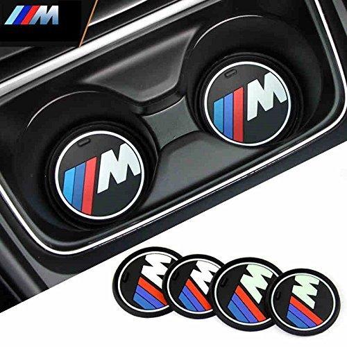 BMW M Mスポーツ Mパフォーマンス カップ ホルダー マット ドリンクホルダー マット コースター 滑り止め X3 X4 X5 X6 5シリーズ 7シリーズ 直径7.3cm(1枚)